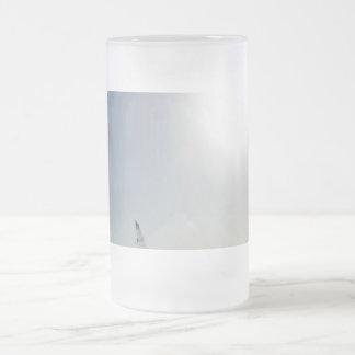 Landscape views frosted glass beer mug