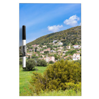 Landscape village with houses in Greek valley Dry-Erase Board