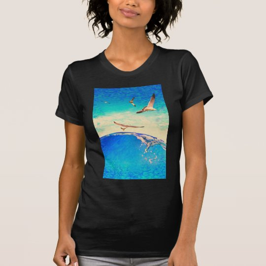 landscape  waves and seagulls T-Shirt