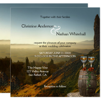 Landscape Wine Vineyard Winery Wedding Invitation