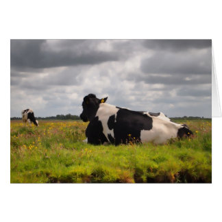 Landscape with 2 cows card