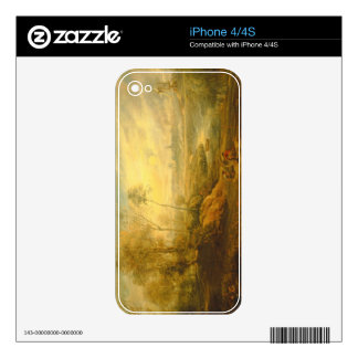 Landscape with a Birdcatcher (oil on panel) Decals For iPhone 4S