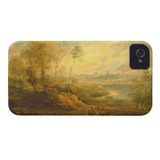 Landscape with a Birdcatcher (oil on panel) iPhone 4 Cover