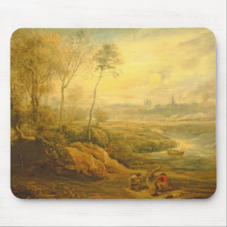 Landscape with a Birdcatcher (oil on panel) Mouse Pad