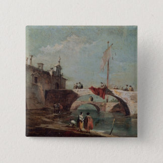 Landscape with a Canal Pinback Button