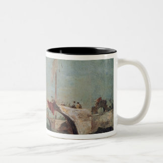 Landscape with a Canal Two-Tone Coffee Mug