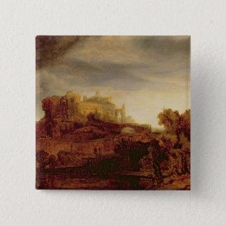 Landscape with a Chateau Pinback Button