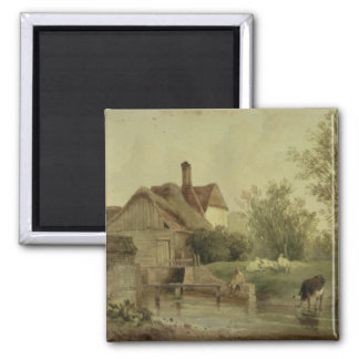 Landscape with a cottage magnet