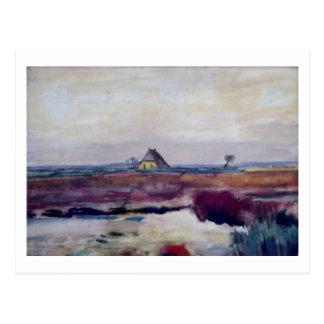 Landscape with a Farm, Van Gogh Fine Art Postcard