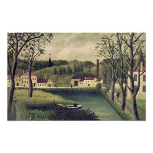 Landscape with a Fisherman, after 1886 Poster