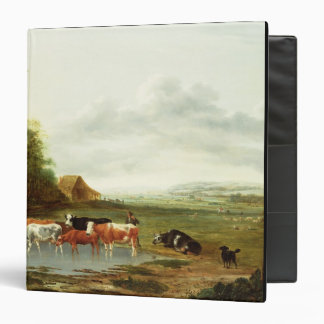 Landscape with a Herdsman and Cattle oil on canva Vinyl Binder