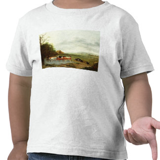 Landscape with a Herdsman and Cattle (oil on canva Shirts