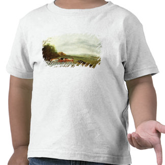 Landscape with a Herdsman and Cattle (oil on canva T-shirt