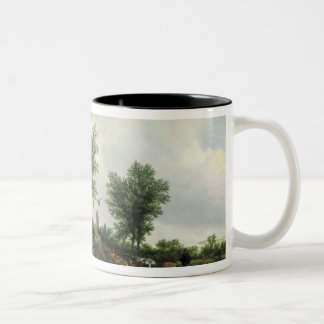Landscape with a Hut, 1646 Two-Tone Coffee Mug