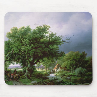 Landscape with a Mill Mouse Pad