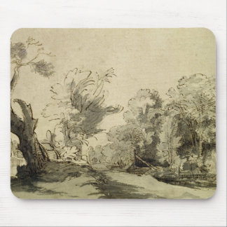Landscape with a path,almost dead tree on left mouse pad