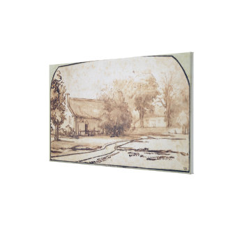 Landscape with a Peasant's House, 1640s Canvas Print