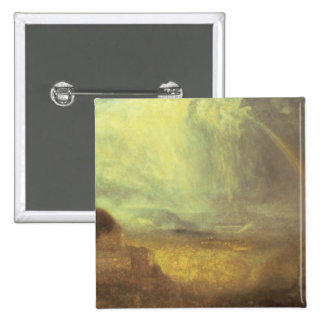 Landscape with a rainbow 2 inch square button