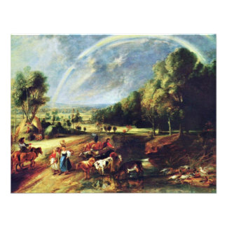 Landscape With A Rainbow By Rubens Peter Paul Personalized Invite