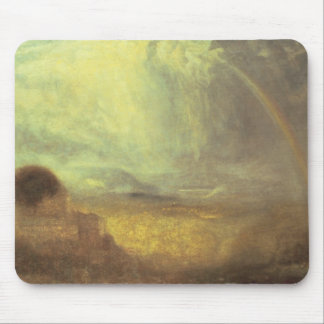 Landscape with a rainbow mouse pad
