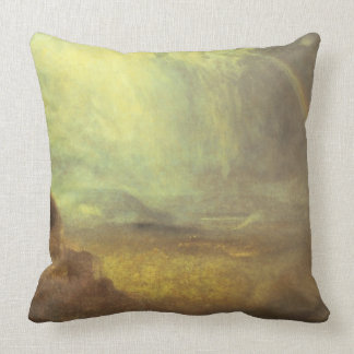 Landscape with a rainbow pillow