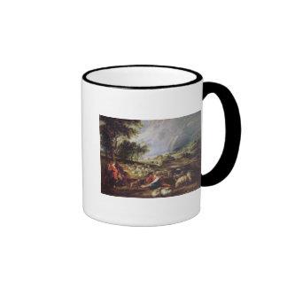 Landscape with a Rainbow Ringer Mug