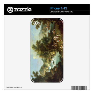 Landscape with a River and Dancing Peasants (oil o Decal For iPhone 4