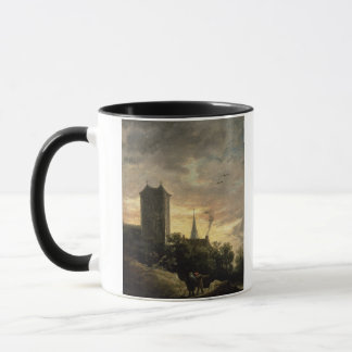 Landscape with a Tower (oil on canvas) Mug