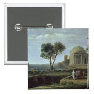 Landscape with Aeneas at Delos, 1672 Button