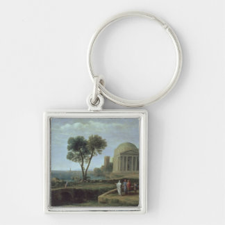 Landscape with Aeneas at Delos, 1672 Keychain