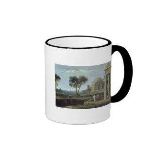 Landscape with Aeneas at Delos, 1672 Ringer Coffee Mug