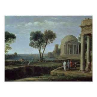 Landscape with Aeneas at Delos, 1672 Poster