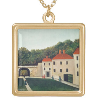 Landscape with an Arch and Three Houses, 1907 (oil Gold Plated Necklace