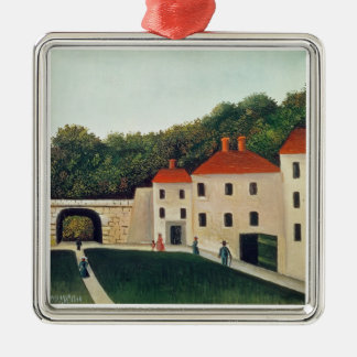 Landscape with an Arch and Three Houses, 1907 (oil Metal Ornament