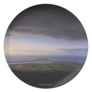 landscape with an overcast sky melamine plate