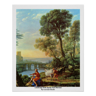 Landscape With Apollo And Mercury Print