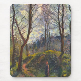 Landscape with big trees by Camille Pissarro Mouse Pad