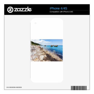 Landscape with boulders and rocks on coast decals for the iPhone 4