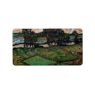 Landscape with Bridge across the Oise by van Gogh Address Label