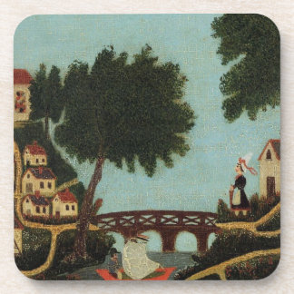 Landscape with Bridge by Henri Rousseau Coaster