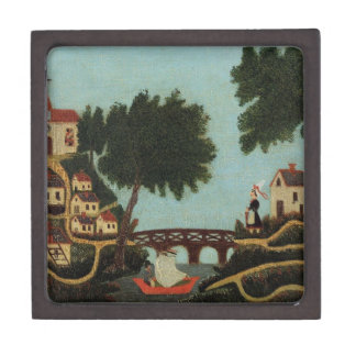 Landscape with Bridge by Henri Rousseau Jewelry Box