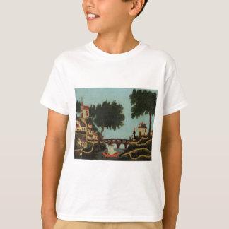 Landscape with Bridge by Henri Rousseau T-Shirt
