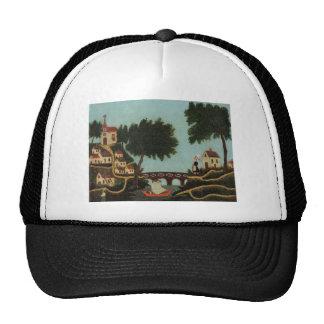 Landscape with Bridge by Henri Rousseau Trucker Hat