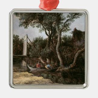 Landscape with Bridge, c.1628 Metal Ornament