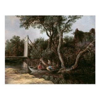Landscape with Bridge, c.1628 Post Card
