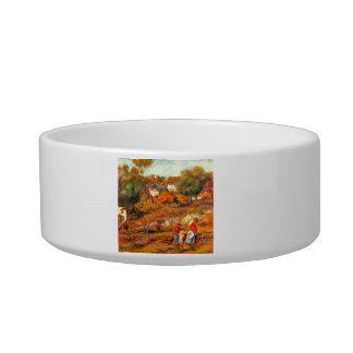 Landscape with Cagnes by Pierre Renoir Cat Bowls