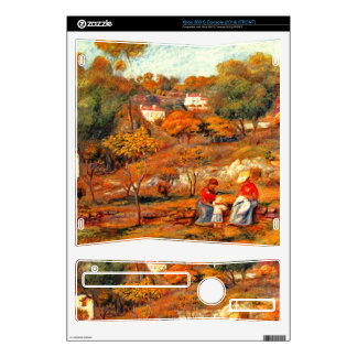 Landscape with Cagnes by Pierre Renoir Xbox 360 S Skin