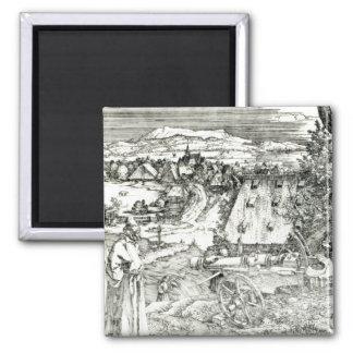 Landscape with Cannon, 1518 Magnet