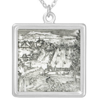 Landscape with Cannon, 1518 Silver Plated Necklace