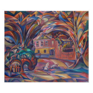 Landscape with Caramel Taste Poster